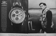 PUBLICITÉ DE PRESSE 1990 MONTRES BREITLING NAVITIMER CHRONOGRAPHE - AVIATION