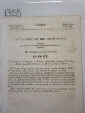 Govt Report 1848 Lieutenant Brower Pension for Widow Jane Brower #1355