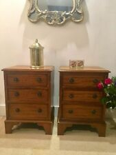 Mahogany 56cm-60cm Bedside Tables & Cabinets with 3 Drawers