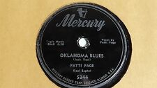 Patti Page  -  78rpm single 10-inch - Mercury #5344