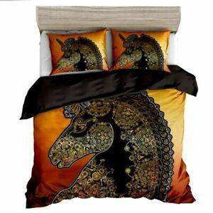 Digital Print Soft 1000TC Quilt Duvet Doona Cover Set Double/Queen/King Unicorn