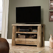 Sauder Boone Mountain Anywhere Console TV Stand Craftsman Oak Finish