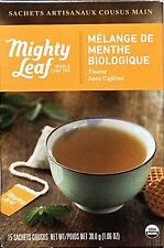 Mighty Leaf Tea Whole Leaf Tea Pouches, Organic Mint Melange, 15/box