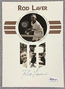 Rod Laver Signed Postcard 5x8 Tennis Autograph US Open Wimbledon Grand Slam JSA