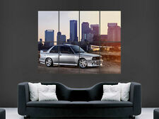 BMW SILVER 3 SERIES M3 E30 CAR POSTER SUNSET CITY METEO TRAIN WALL ART PRINT