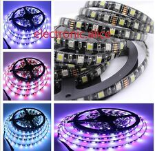 DC12V 5M 5050 RGBW RGB+white 300 led strip light Black PCB IP65 waterproof