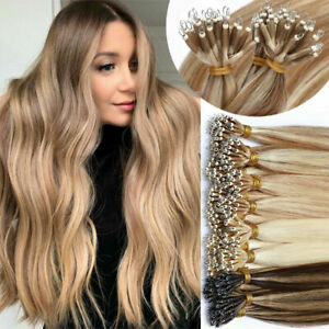 Invisible Small Keratin Nano Ring Beads Tip Remy Human Hair Extensions Thick1g/s