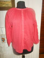 Chemisier tunique blouse rose pois brodé oversize COMPTOIR DES COTONNIERS 36