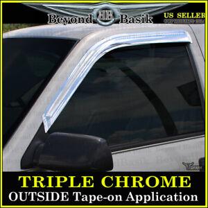 1988-1998 Chevy Pickup CK1500 2500 3500 2PC Front Chrome Door Vent Window Visors