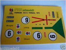 FERRARI 512S 1000 KM PARIGI 1970 DECALS 1/43