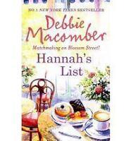 Hannah's List (MIRA), Debbie Macomber | Paperback Book | Good | 9780778303794