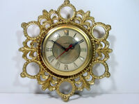 Vintage Electric Wall Clock Convex Glass