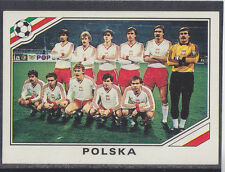 Panini - Mexico 86 World Cup - # 365 Polska Team Group