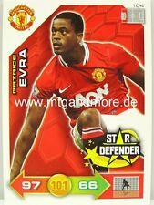 Adrenalyn XL Manchester United 11/12 - #104 Patrice Evra - Star Defender