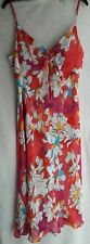 MARKS AND SPENCER SIZE 14 COLOURFUL MAXI DRESS GOOD COND'N FULLY LINED FREE P&P