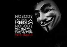 V for Vendetta Quote A4 Photo Poster Print ONLY Wall Art