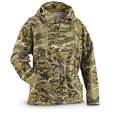 Military Style Multi Camo Anorak LARGE Pullover Hooded Hoodie Tactical Jacket