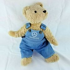 "Mercedes Benz Herrington's Collection 16"" Teddy Bear Plush Toy Denim Overalls"