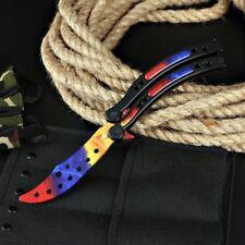 CS GO MARBLE FADE Balisong Butterfly Messer Skin Knife Striker Trainer