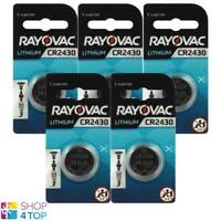 5 Rayovac CR2430 Pile Lithium 3V Cell Coin Bouton Watch Exp 2026 285mAh Neuf