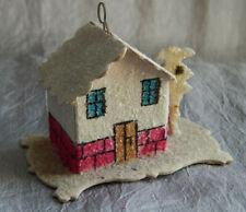 Vintage Christmas Ornament Cardboard House Czech  #204