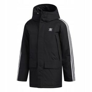 Adidas Originals Padded 3S Winter Coat, Parka, Puffer Black Jacket Men's ED5834