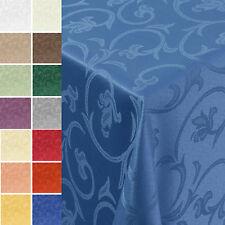 Gastro Barock Damast Tischdecke Eckig  Größe und Farbe wählbar