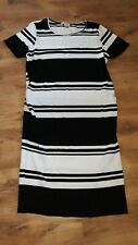 RED HERRING MATERNITY DRESS IN BLACK AND WHITE COLOUR, SIZE UK 18,POLYESTER
