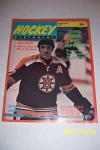 1971 HOCKEY Pictorial BOSTON BRUINS Phil ESPOSITO Bobby ORR Super Bruin FREE/SH