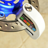 Security Disc Alarm Lock Motorcycle Scooter Bicycle Dirt Bikes with Disk Brakes~