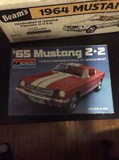1965 Mustang 2+2 Monogram Plastic Model Kit 1/24 Scale Unassembled Open Box