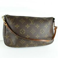 LOUIS VUITTON POCHETTE ACCESSOIRES Pouch Purse Monogram M51980 Brown