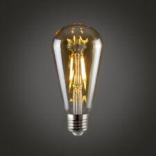 MiniSun 4w LED Vintage Style Squirrel Cage Lightbulb Warm White Light ES E27 a