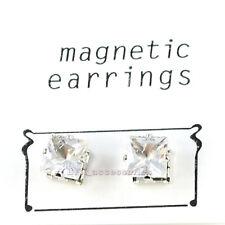 Clip on MAGNETIC EARRINGS earring CZ STONE Men's Ladies fashion 5 8 10 mm girls