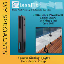 Matt Black Pool Glass Spigot Square Spigots Duplex 2205 Stainless Steel