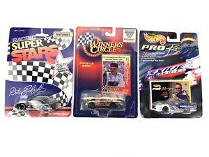 Lot of 3 NASCAR Matchbox Hot Wheels Racing Cars- Dale Jr & Mark Martin NIP!