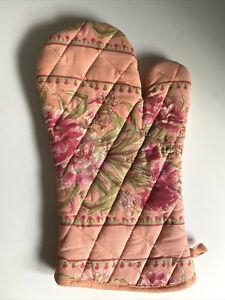 April Cornell Oven Mitt Kitchen Mit Pot Holder Kitchen Pink Flower Girly Floral