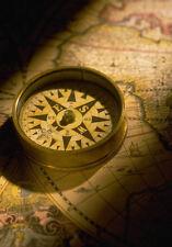 Enmarcado impresión mapa náutico y brújula (Imagen Arte Cartel Pirata Tesoro)