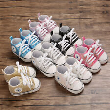 First Step Trainers Newborn Baby Boy Girl Crib Shoes Toddler Paillette Sneakers