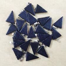 Fashion blue sand stone triangle shape charms pendants 50pcs/lot Wholesale