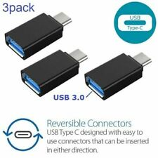 x3 (3pack) USB-C Type C 3.1 Male to USB 3.0 Female Converter Adapter OTG Black