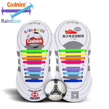 No Tie Shoelaces Silicone For Baseball Football Boots Sneakers Us