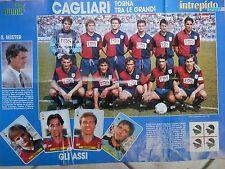 vecchio poster CAGLIARI MILAN calcio squadra Intrepido 1990 43x61 Coppa del FIFA