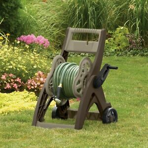 175 Ft PORTABLE HOSE REEL CART Light Wheels Roll Up Garden Water Storage Wash