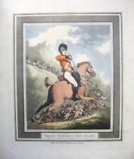 Acqueforti [incisioni] Cavalleria Napoleonica SPADA TRAPANI Rowlandson Coscia Protezione NUOVA GUARDIA 1799