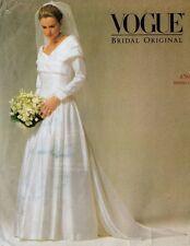 Vogue Bridal Wedding Dress, Elegant sleeve/less, SEWING Pattern 2768 6-8-10 UC
