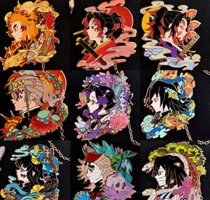 Demon Slayer Kimetsu no Yaiba Iguro Obanai Douma Metal Badge Pin Brooch Gift N