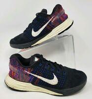 Nike Womens Sz 8 747356-005 Lunarglide 7 Running Sneakers Pink Blue