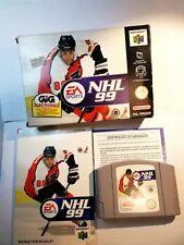 New listing NHL 99 Ice Hockey 1999 Nintendo 64 N64 Pal Eu Eur Eng Italian Gig Original