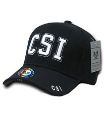 Rapid Dominance Black Embroidered CSI Baseball Caps Hats, New